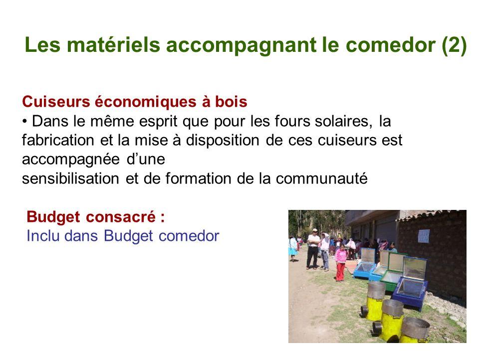Les matériels accompagnant le comedor (2)