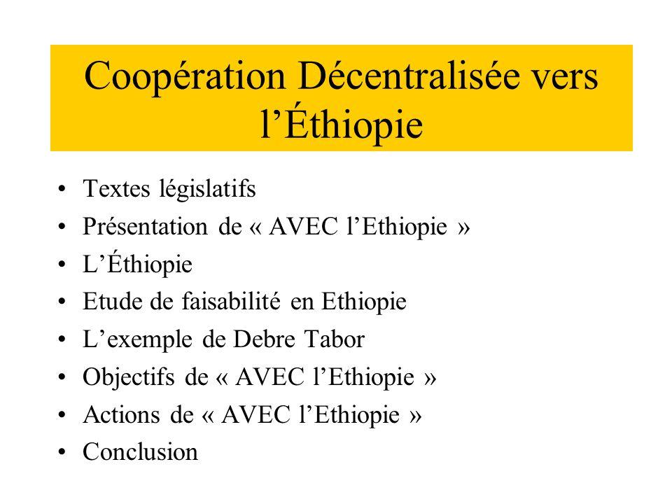 Coopération Décentralisée vers l'Éthiopie