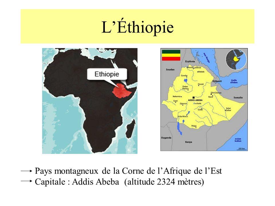L'Éthiopie Pays montagneux de la Corne de l'Afrique de l'Est