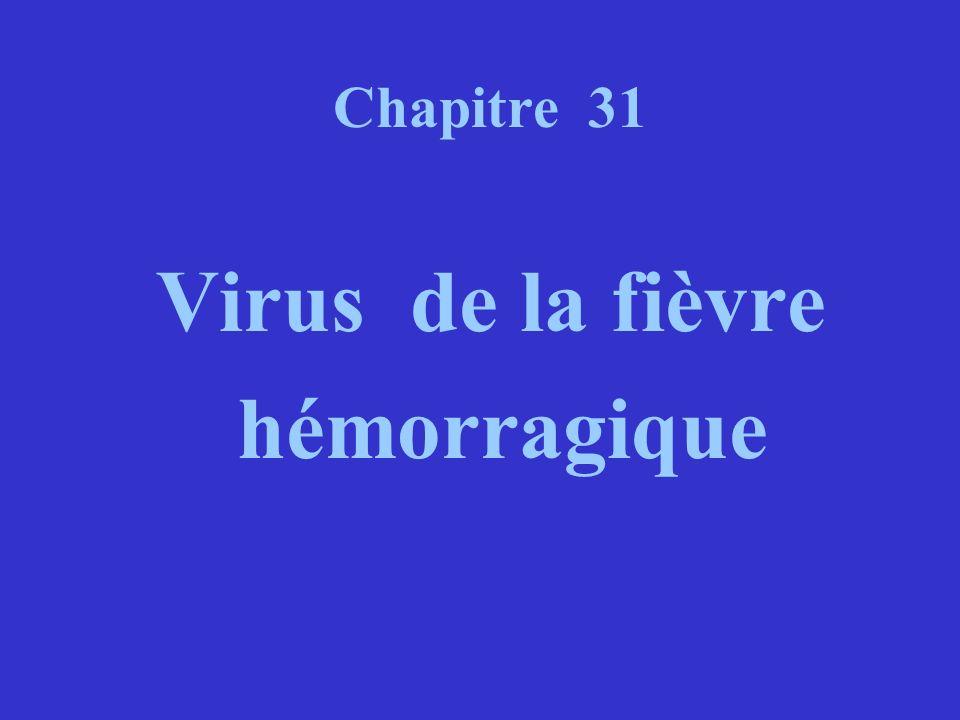 Chapitre 31 Virus de la fièvre hémorragique