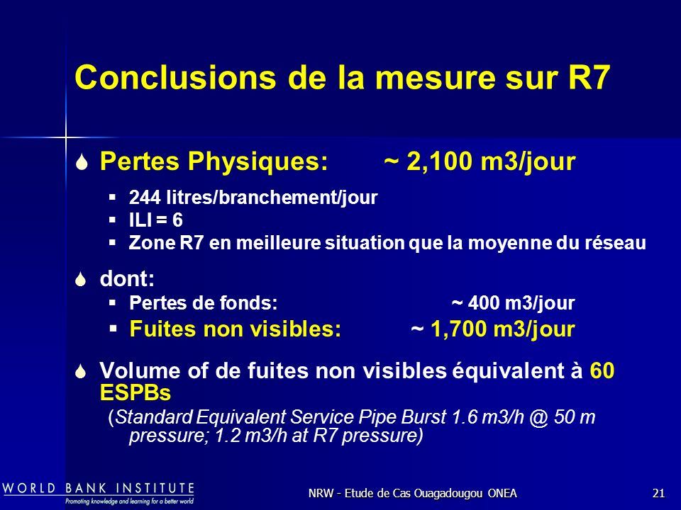 Conclusions de la mesure sur R7