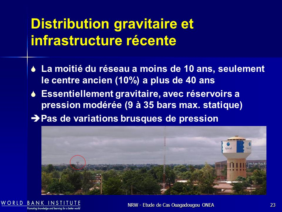 Distribution gravitaire et infrastructure récente