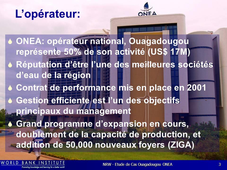 NRW - Etude de Cas Ouagadougou ONEA