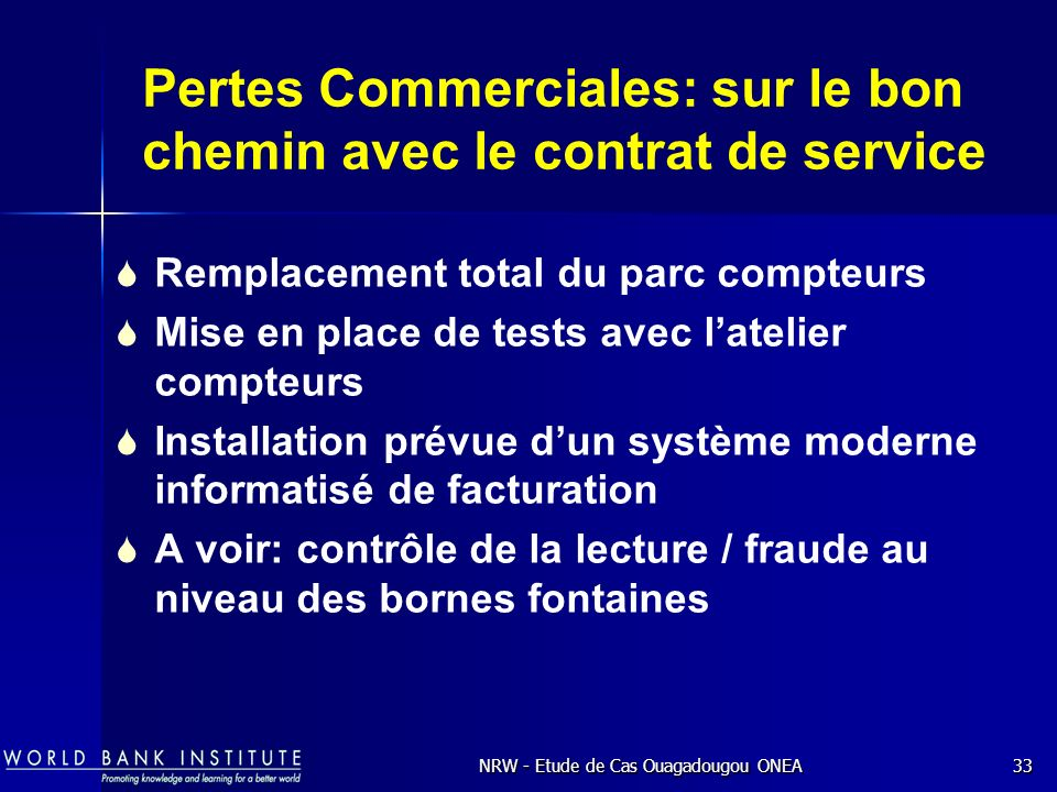 Pertes Commerciales: sur le bon chemin avec le contrat de service