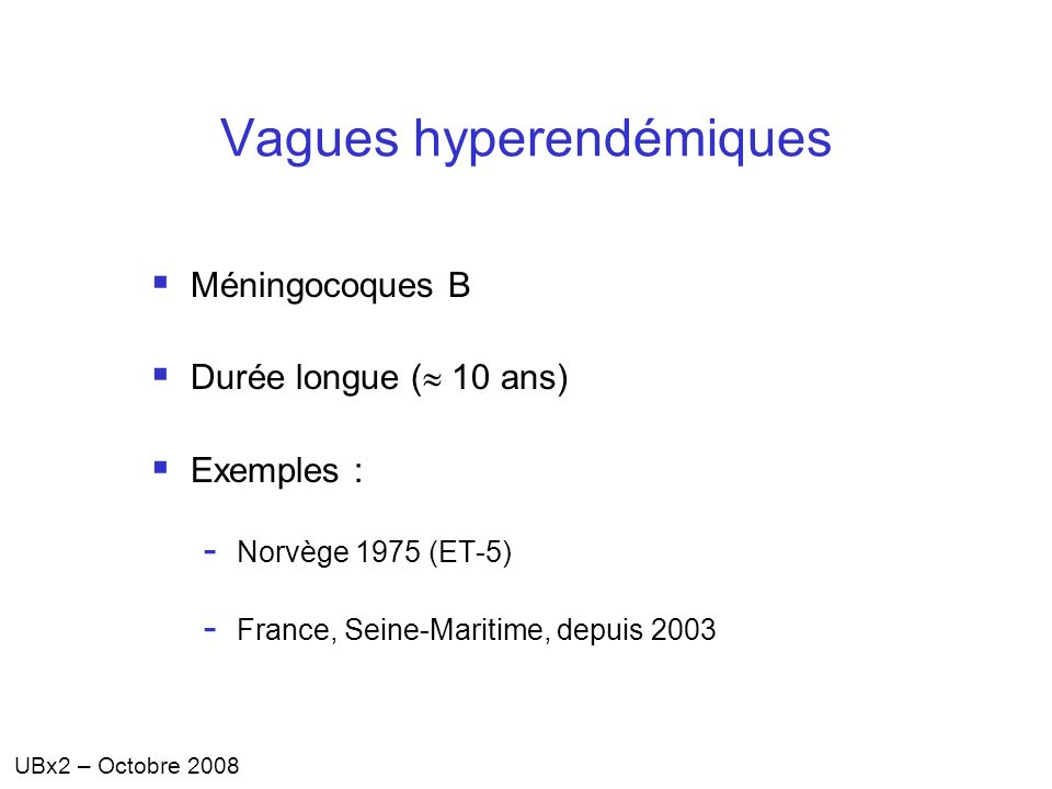 Vagues hyperendémiques