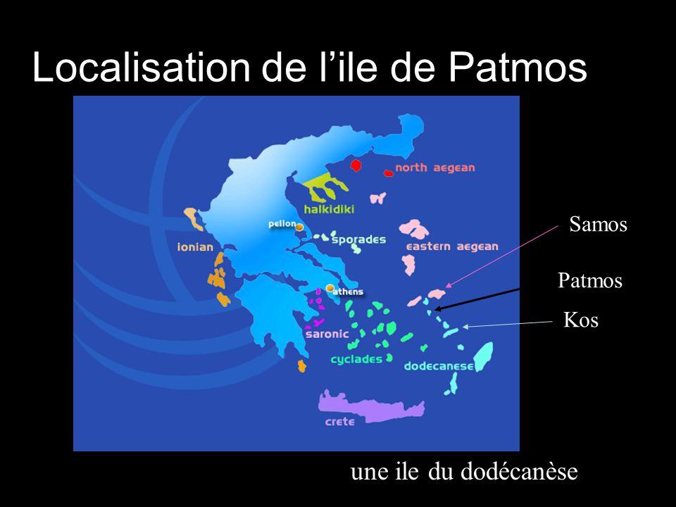 Localisation de l'ile de Patmos