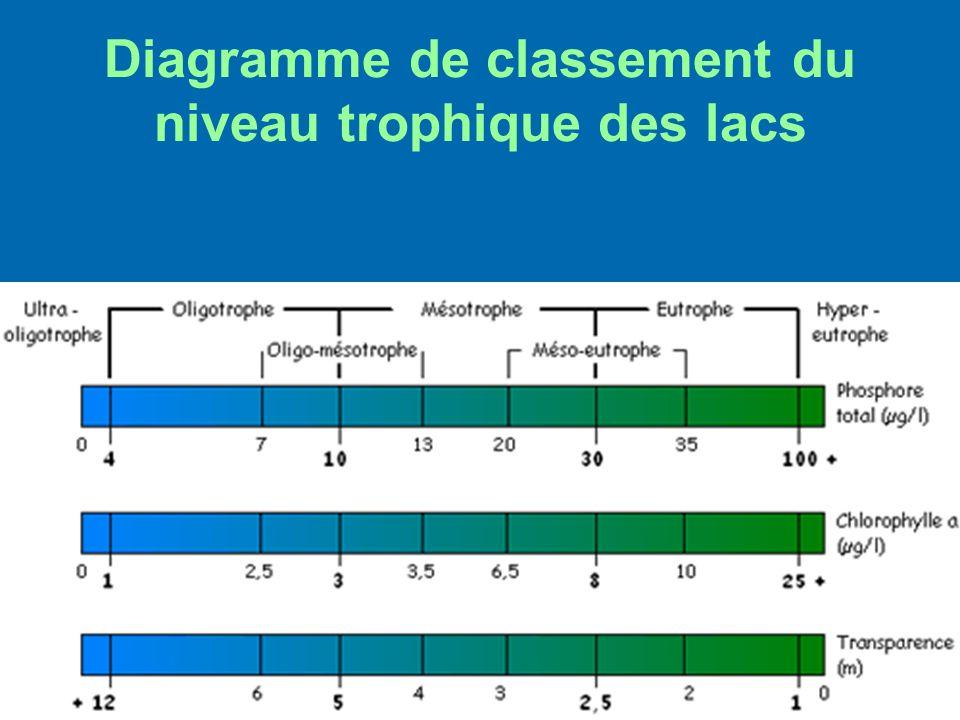 Diagramme de classement du niveau trophique des lacs