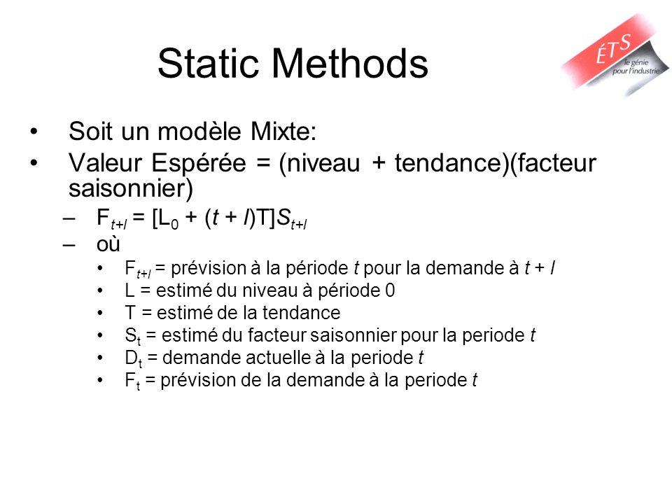Static Methods Soit un modèle Mixte: