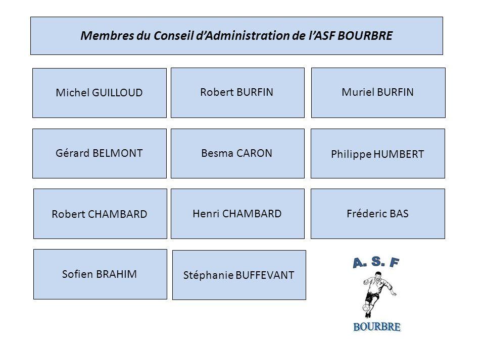 Membres du Conseil d'Administration de l'ASF BOURBRE