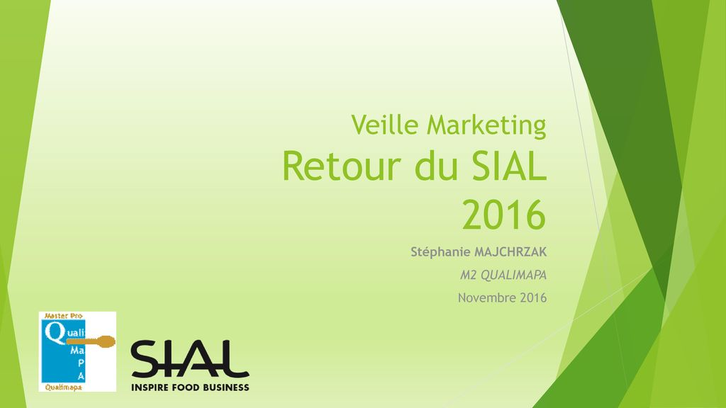Veille Marketing Retour du SIAL 2016