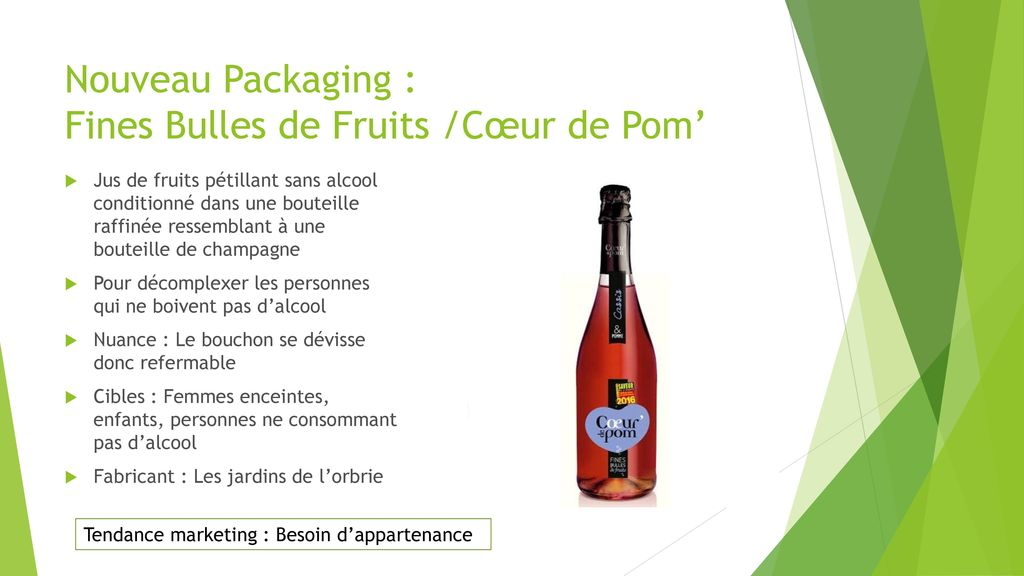 Nouveau Packaging : Fines Bulles de Fruits /Cœur de Pom'