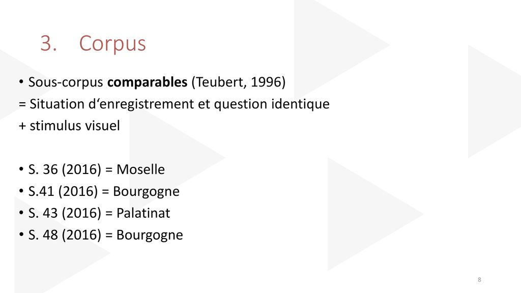 3. Corpus Sous-corpus comparables (Teubert, 1996)