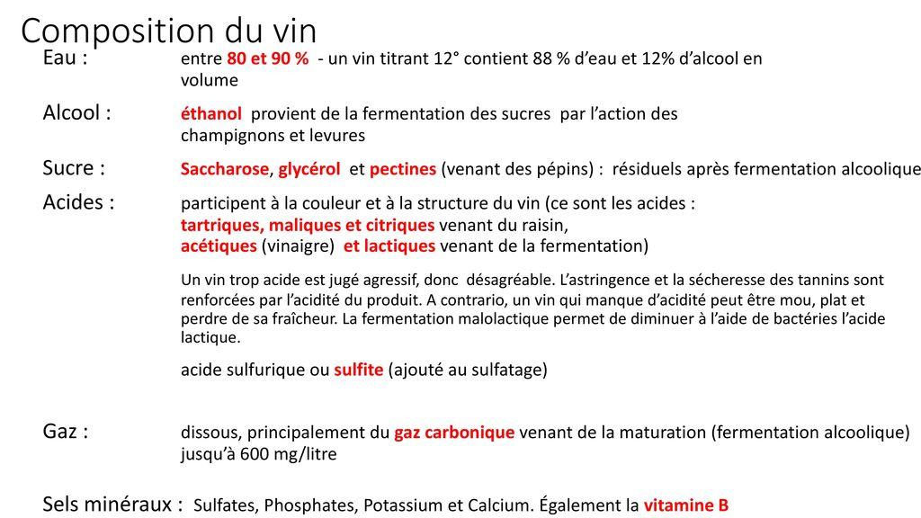 Comment aborder la connaissance du vin ppt t l charger - Difference entre vinaigre blanc et vinaigre d alcool ...