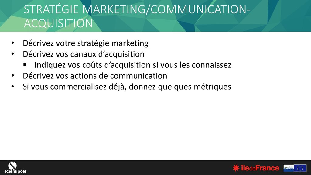 STRATÉGIE MARKETING/COMMUNICATION- ACQUISITION