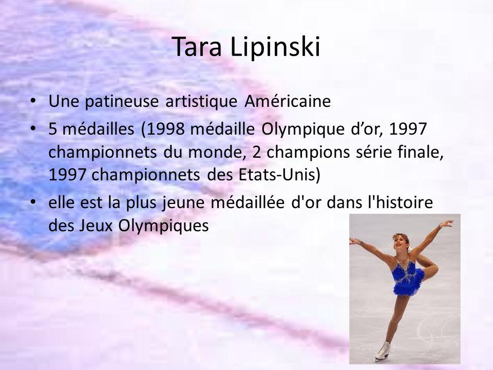 Tara Lipinski Une patineuse artistique Américaine
