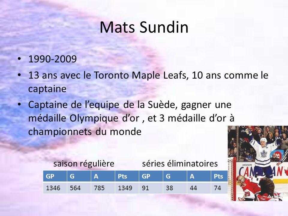 Mats Sundin 1990-2009. 13 ans avec le Toronto Maple Leafs, 10 ans comme le captaine.