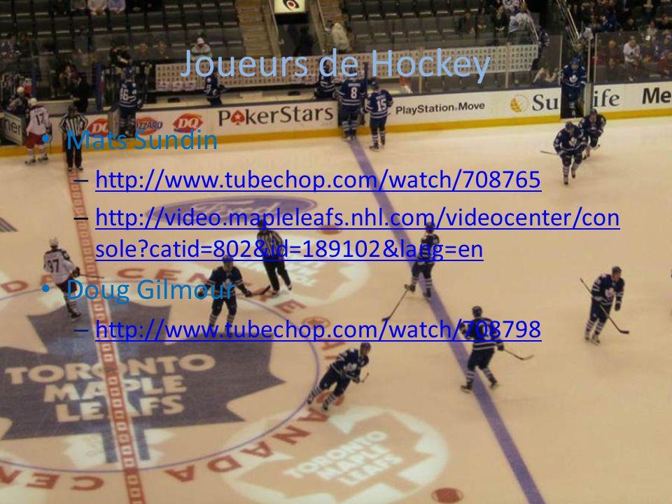 Joueurs de Hockey Mats Sundin Doug Gilmour