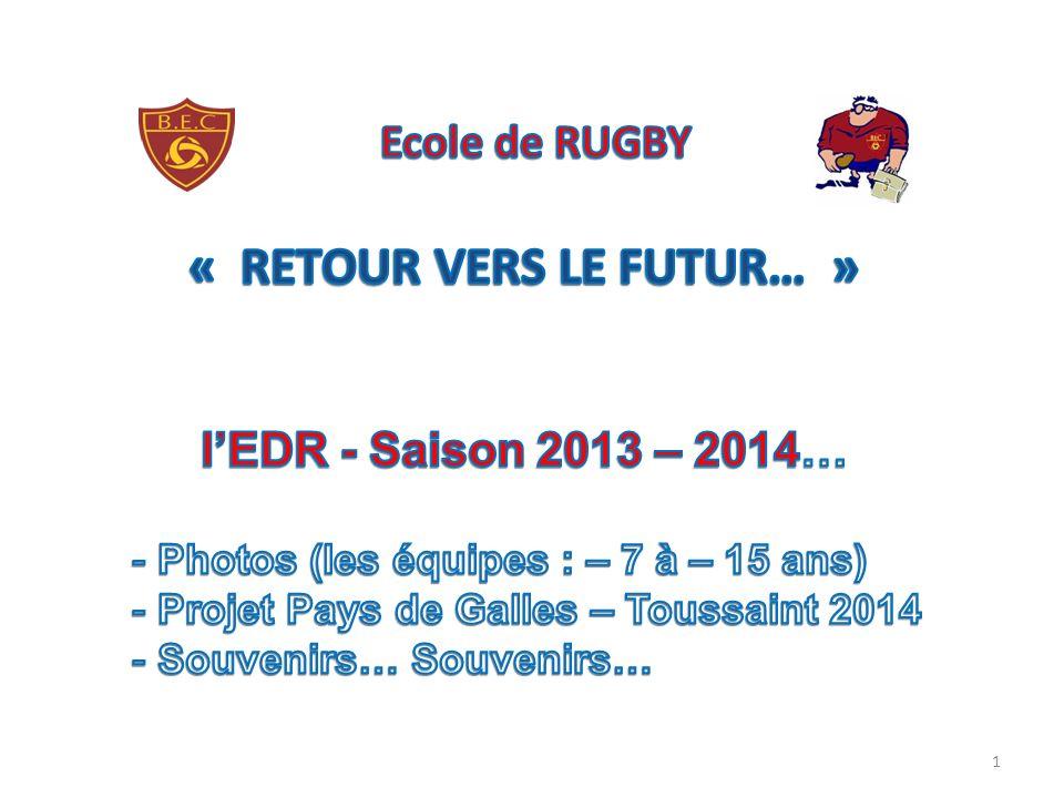 Ecole de RUGBY « RETOUR VERS LE FUTUR… »