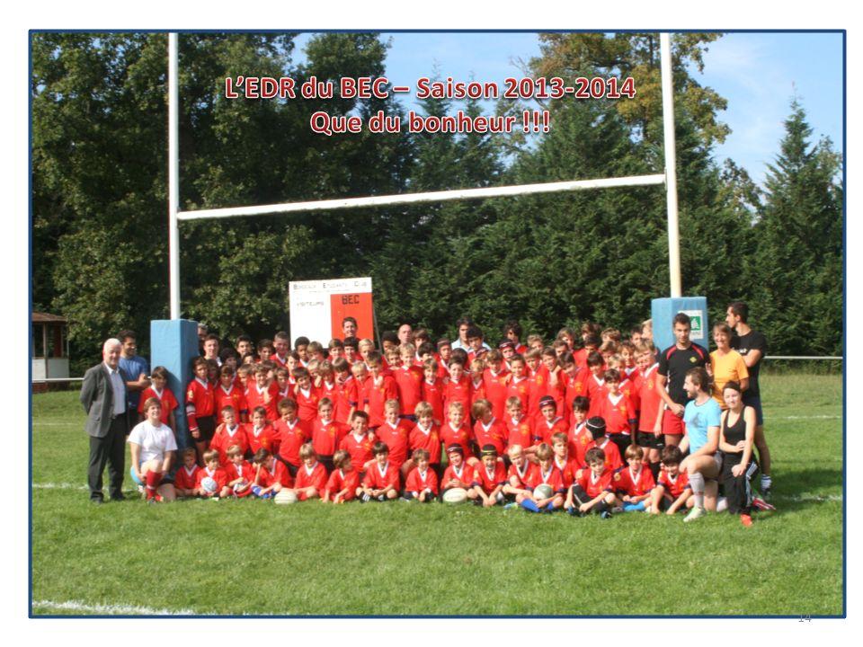 L'EDR du BEC – Saison 2013-2014 Que du bonheur !!!