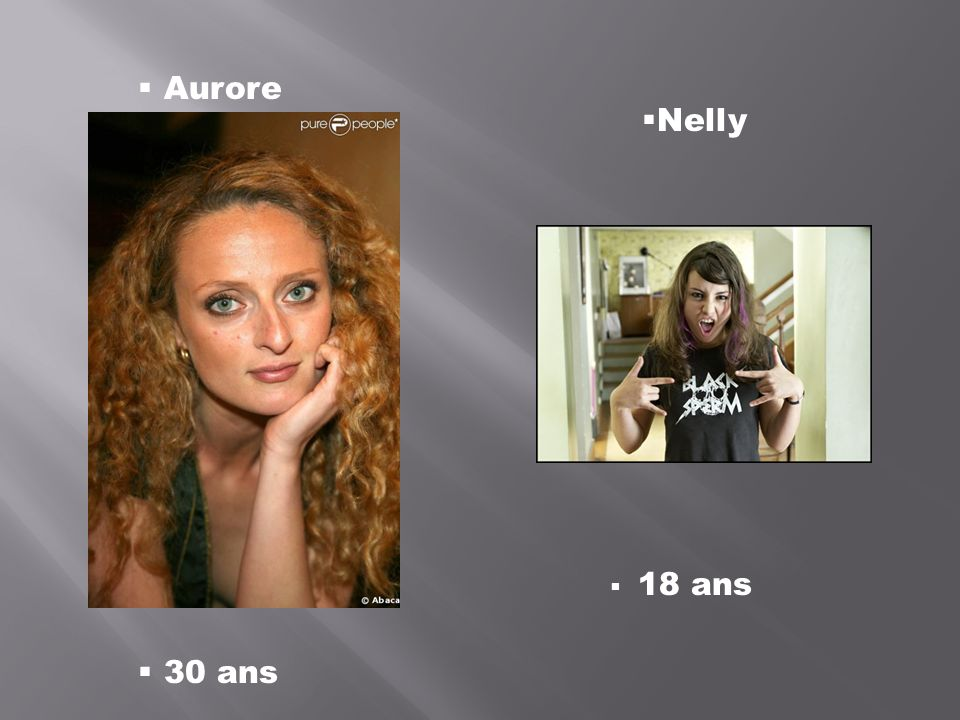 Aurore Nelly 18 ans 30 ans