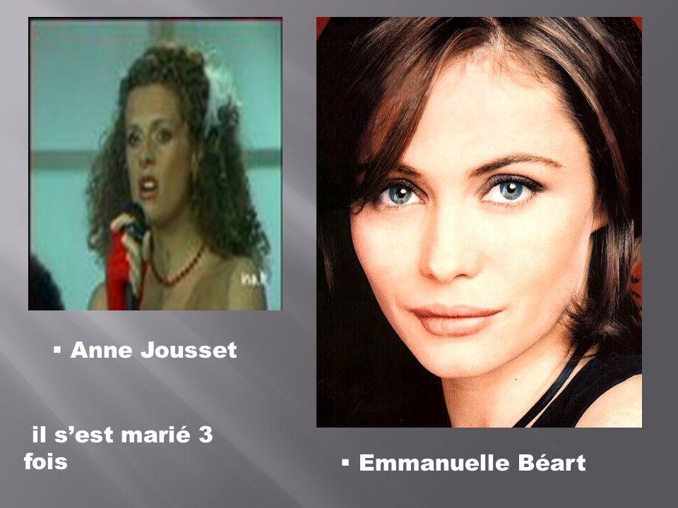 Anne Jousset il s'est marié 3 fois Emmanuelle Béart