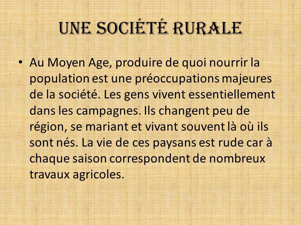 Une société rurale
