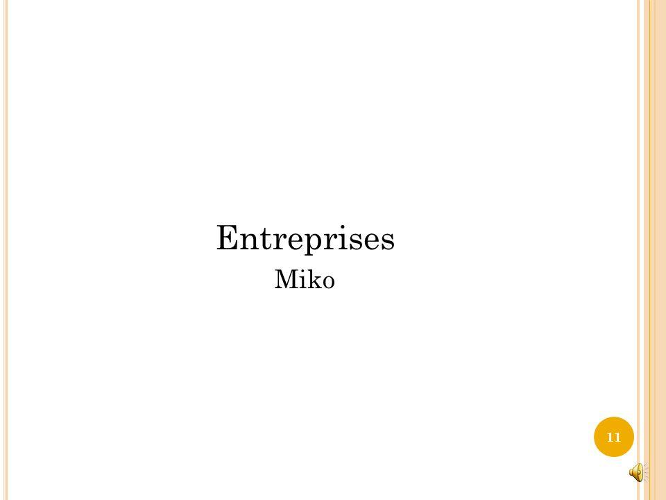 Entreprises Miko