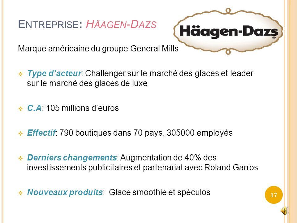 Entreprise: Häagen-Dazs