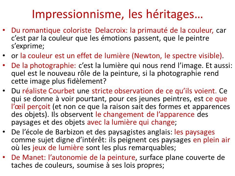 Impressionnisme, les héritages…