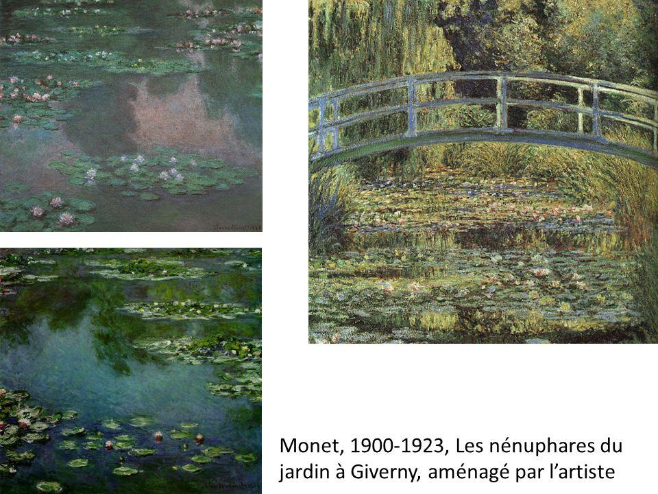 Monet, 1900-1923, Les nénuphares du jardin à Giverny, aménagé par l'artiste
