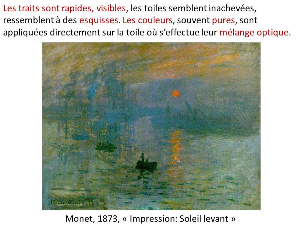 Monet, 1873, « Impression: Soleil levant »