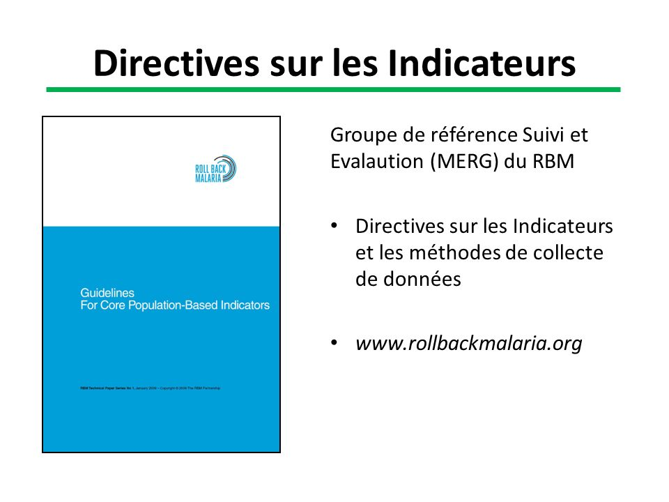 Directives sur les Indicateurs