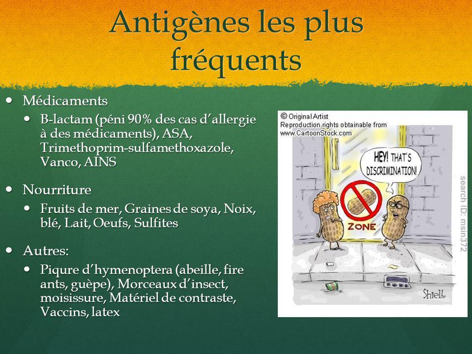 Antigènes les plus fréquents