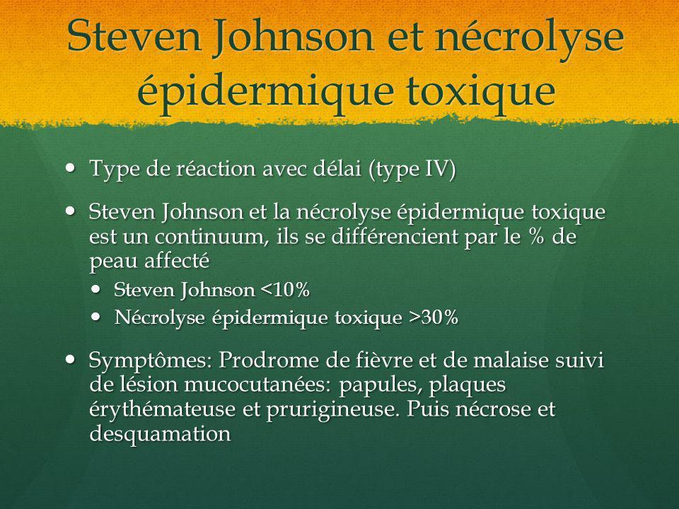 Steven Johnson et nécrolyse épidermique toxique