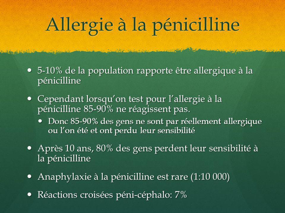 Allergie à la pénicilline