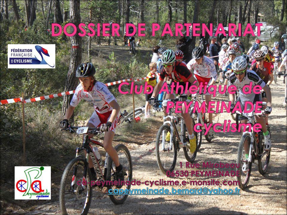 DOSSIER DE PARTENARIAT Club Athlétique de PEYMEINADE cyclisme