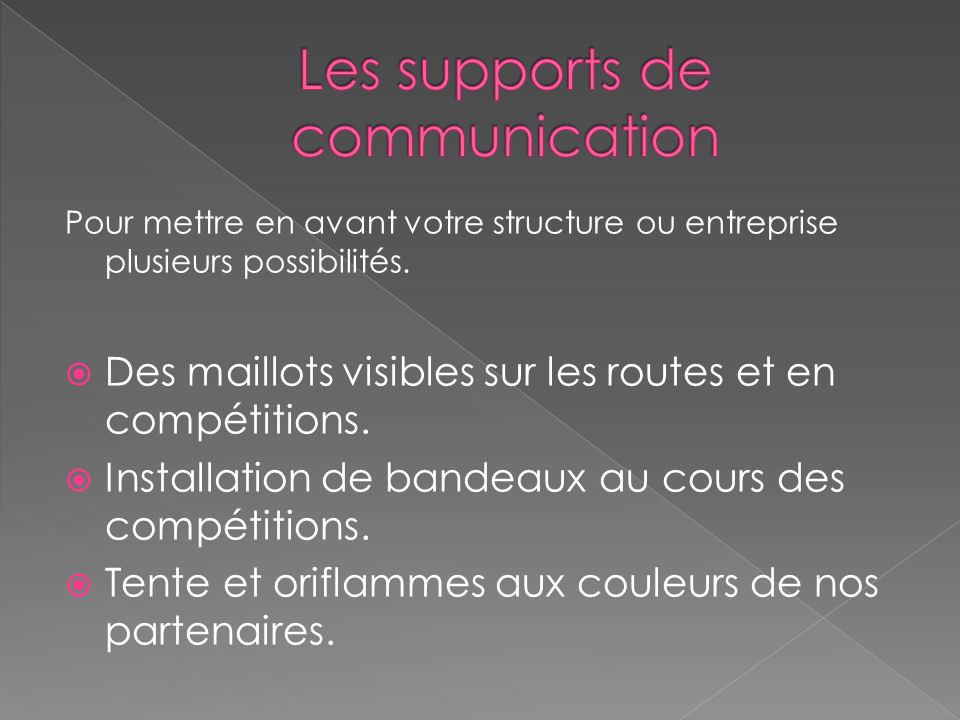 Les supports de communication