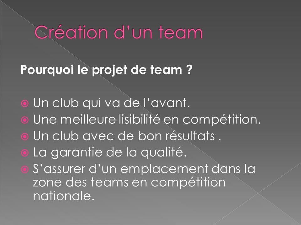 Création d'un team Pourquoi le projet de team