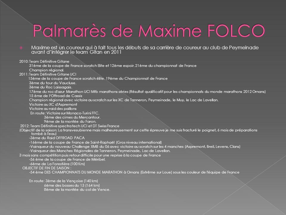 Palmarès de Maxime FOLCO