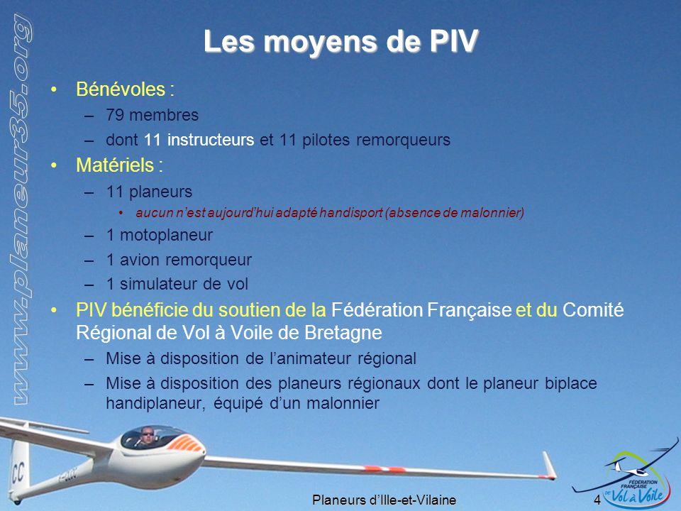 Les moyens de PIV Bénévoles : Matériels :
