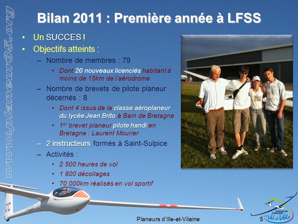 Bilan 2011 : Première année à LFSS