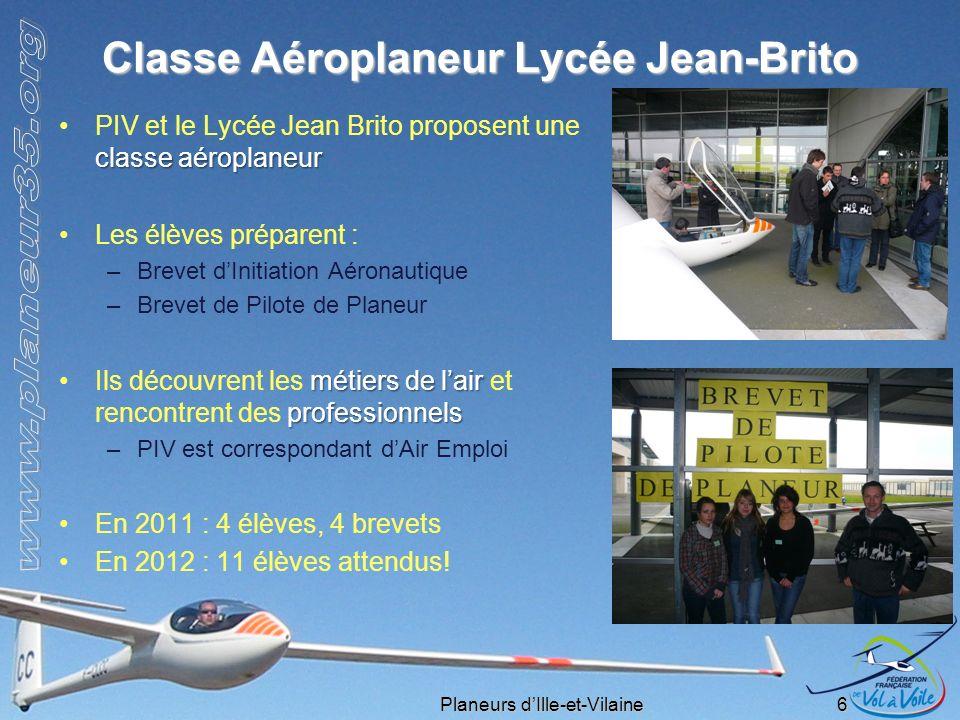 Classe Aéroplaneur Lycée Jean-Brito