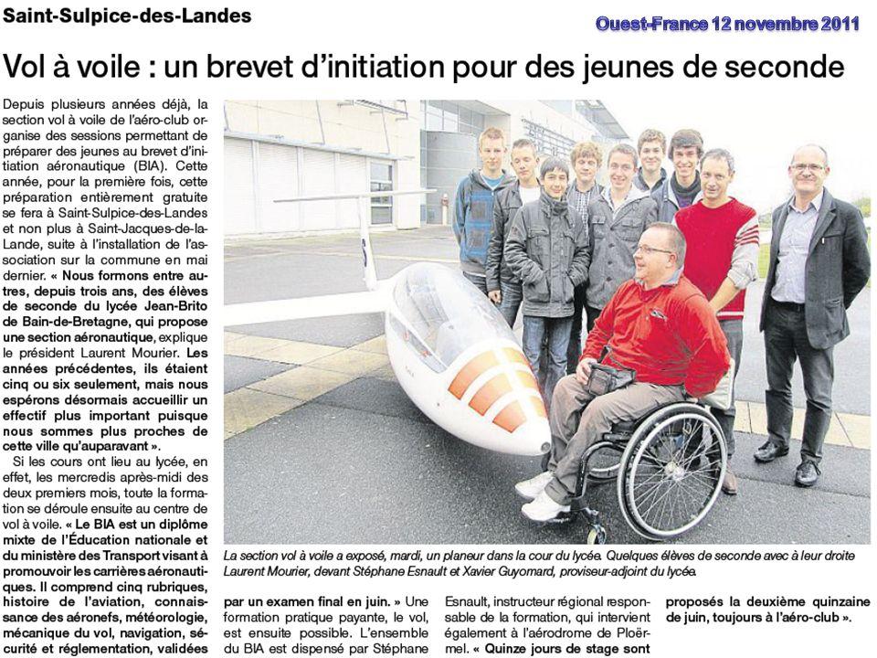 Ouest-France 12 novembre 2011