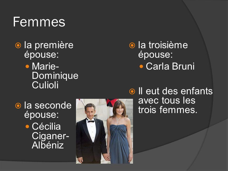 Femmes la première épouse: Marie-Dominique Culioli la seconde épouse: