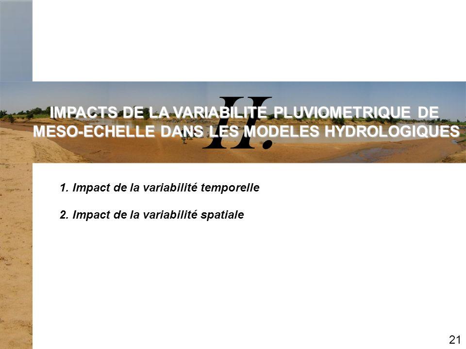 II. IMPACTS DE LA VARIABILITE PLUVIOMETRIQUE DE