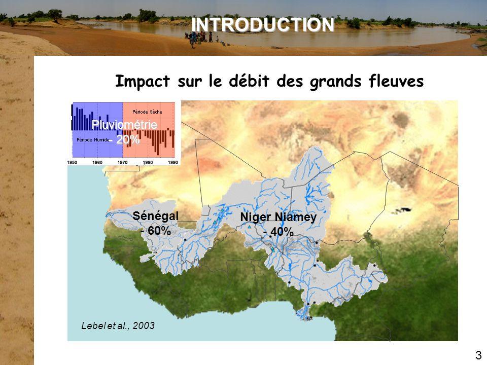 Impact sur le débit des grands fleuves