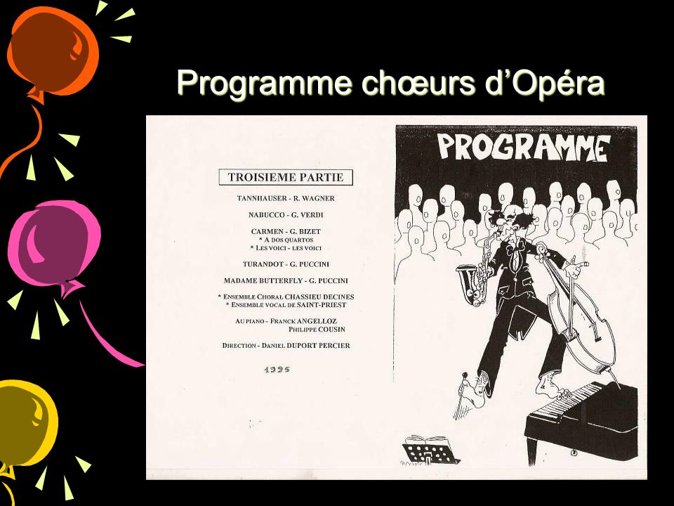 Programme chœurs d'Opéra