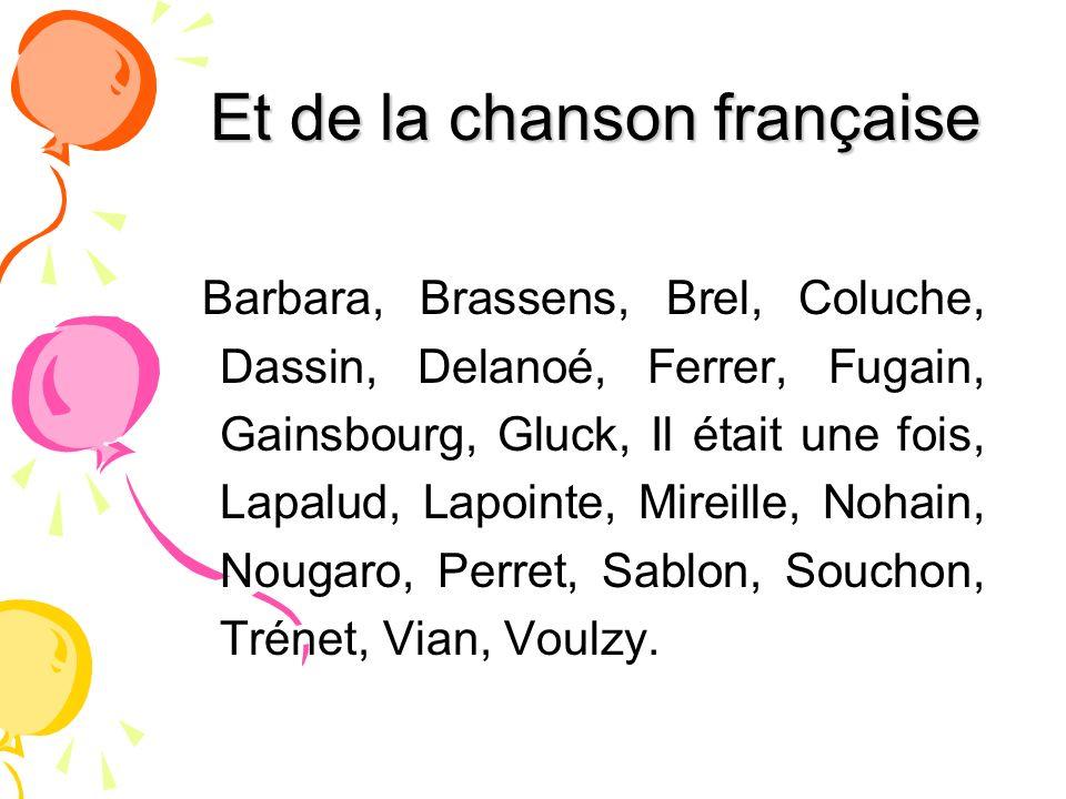 Et de la chanson française