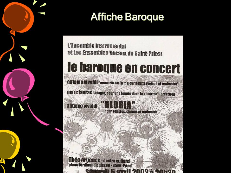 Affiche Baroque