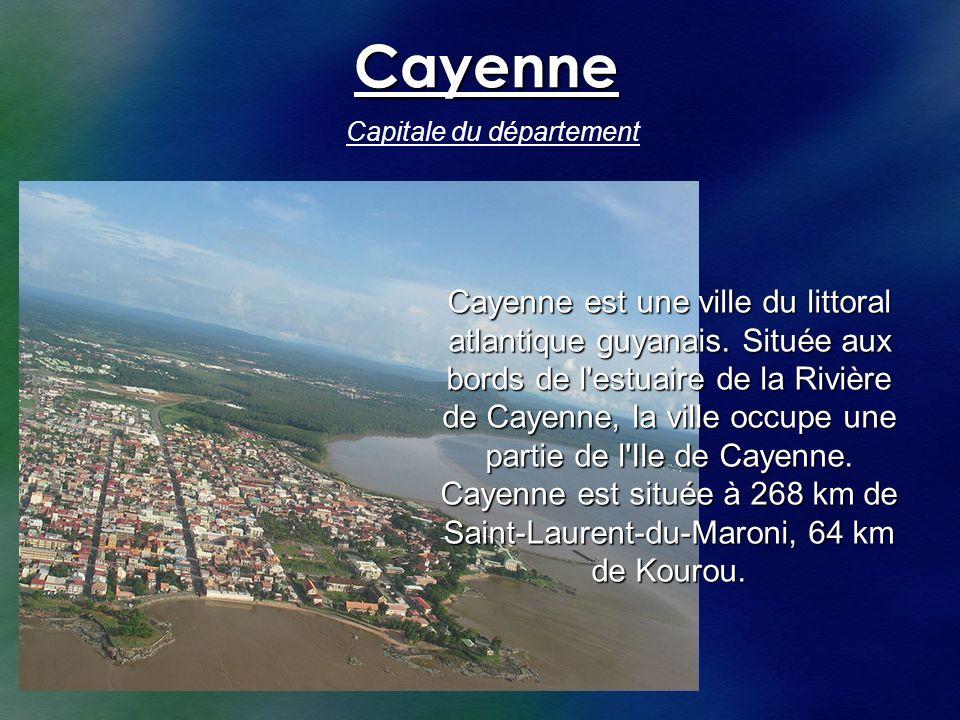 Cayenne Capitale du département.